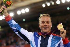 Sir Chris Hoy during the London 2012 Olympic Games. Picture, Getty