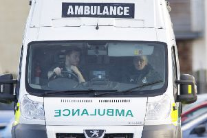 Drew Dodd at his work as an ambulance driver. Picture: Ian Rutherford