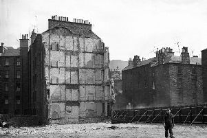 Beaumont Place tenements demolished - General view showing area cleared to ground level. Picture: TSPL