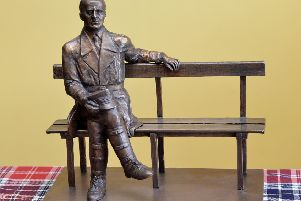 A maquette of a memorial statue of General Stanislaw Maczek, planned for the Meadows. Picture: Jon Savage