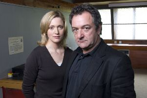 Ken Stott as Rebus (right) and Claire Price as DS Siobhan Clarke. Picture: Contributed