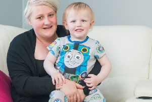 Lyle Cornet with his mum Lyndsay - Loanhead. Picture; Ian Georgeson