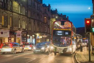 The incident took place on Roseburn Terrace on Saturday evening. Picture: Ian Georgeson