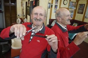 Alfonso Russo has owned the shop with Sam since 1970. Picture: Greg Macvean
