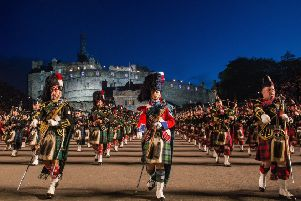 The 2017 Royal Military Tattoo, Edinburgh Castle. Picture: Ian Georgeson