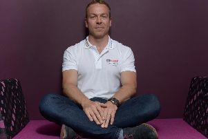 Sir Chris Hoy says he is sorry following the remark. Picture: TSPL