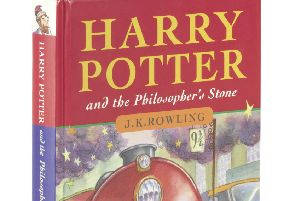 This first edition of Harry Potter and the Philosopher's Stone has sold for a world record �106,250. Picture: SWNS