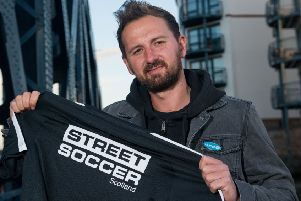 David Duke - the founder of Street Soccer -  who has been made MBE in the honours list