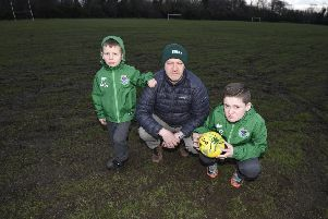 Edina Hibs coach Brian Gunn at the Jack Kane Centre pitches
