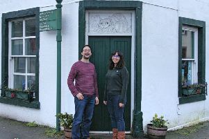 Neil Chue Hong and Stephanie Mlot at The Open Book shop