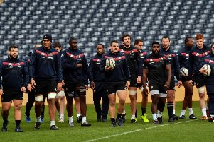 France's rugby team take part in the captain's run training session at BT Murrayfield. Picture: AFP/Getty Images