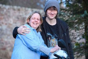 Liz Leckie and son Cammy. Picture: Ian Georgeson