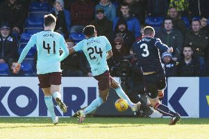 Ross County's Jason Naismith scores to make it 1-1. Picture: SNS/Paul Devlin