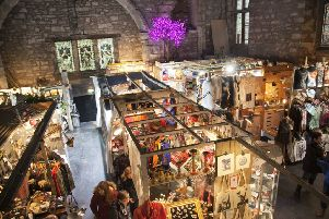 The Tron Kirk market on the Royal Mile
