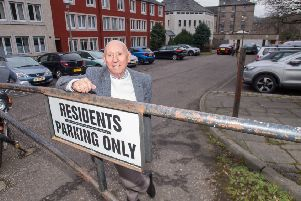 James White has been unable to park in the car park for many years as it is always full to the brim with cars. Picture: W Marr
