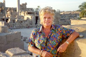 Judith Chalmers visits Karnak during an episode of Wish You Were Here. Picture: ITV/REX/Shutterstock