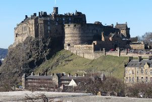Edinburgh Castle from the National Museum