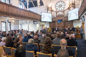 The meeting took place at Meadowbank Church. Picture: Ian Georgeson