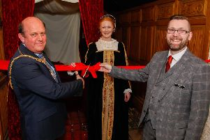 Lord Provost Frank Ross opens Night of Sorrows room at The Real Mary Kings Close. Pic: Scott Louden