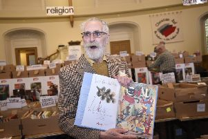 John Byrne launches the Christian Aid Book Sale