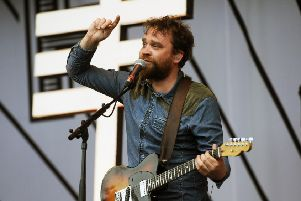 Scott Hutchison performing with Frightened Rabbit at T in the Park in 2013. Picture: Greg Macvean