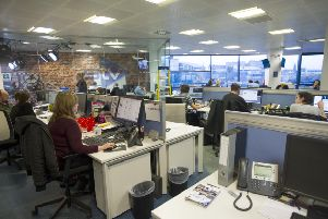 The STV newsroom in Fountainbridge. Picture: Jane Barlow