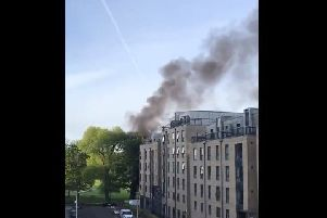 The fire has sent thick smoke billowing across the city. Picture: Twitter/@mrbuckwheel