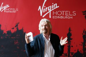 Sir Richard Branson during the Virgin Hotels groundbreaking event at India Buildings in the Capital. Picture: Robert Perry/PA Wire