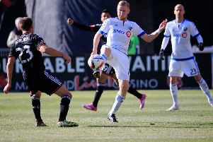 Calum Mallace in action for Montreal Impact. Pic: SNS