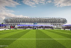 An artist's impression of the new stadium. Picture: Contributed/Scottish Rugby