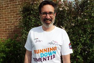 Dr Ian Elliott has so far raised around �1700 from taking part in Alzheimer's Research UK's Running Down Dementia challenge