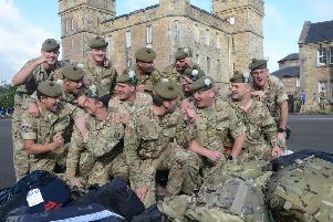 Welcome home. The 2 Scots return to their Penicuik base
