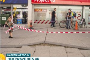 The cracked pavement was featured on ITV's Good Morning Britain (Photo: ITV)