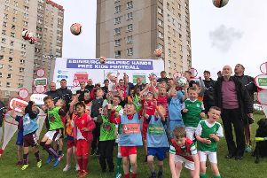Free football and boxing classes are being backed by Irvine Welsh.' Picture: Edinburgh Helping Hands
