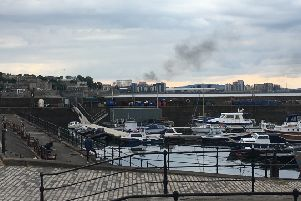Smoke was visible from Newhaven Harbour. Picture: Contributed