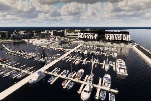 The first stage will see a marina office, community boat yard with dry dock and car parking. Picture: Contributed