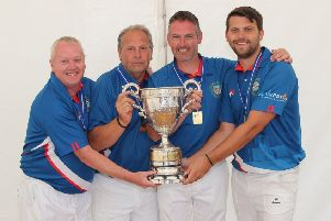 The Carick Knowe four of John Priestley, Graham Pringle, James Hogg and Stephen Pringle hold their trophy