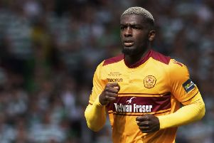 Cedric Kipre became a firm favourite with the Motherwell fans during his time at Fir Park. Picture: SNS Group