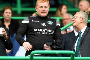 Neil Lennon said earlier this year that he was targeting the Europa League group stages. Picture: SNS Group