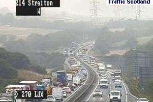 The incident is adding to delays across the city. Picture; Traffic Scotland