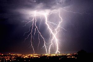 The Met Office has issued of a warning of thunder and lightning strikes. Picture: AP