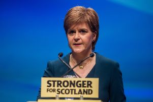 First Minister Nicola Sturgeon. Picture: John Devlin