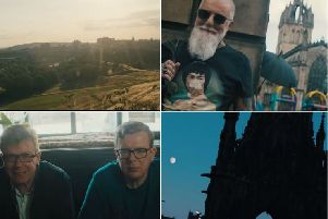 Screenshots from the latest Proclaimers video.