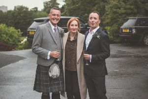 JK Rowling surprised guests at wedding at Prestonfield House Hotel. Picture credit: Matt E Photography Photography/www.mattephotography.co.uk
