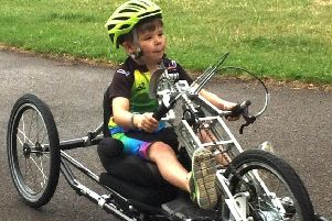 Jack used a handcycle to get around after his surgery