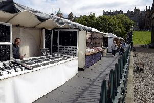 Stall traders near the Playfair Steps. Picture: Lisa Ferguson