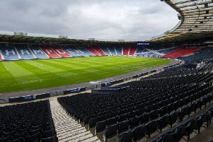 A general view of Hampden Park. Fans were divided over the Scottish FA's decision to stay at the national stadium. Picture: SNS Group