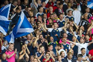 Fans at Hampden Park. Pic: SNS/Alan Harvey