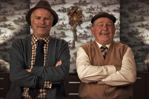 Jack Jarvis, played by Ford Kiernan (right), and Victor McDade, played by Greg Hemphill, in BBC sitcom Still Game. Picture: PA/BBC