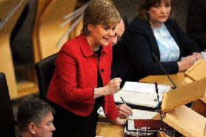 Nicola Sturgeon was speaking at First Minister's Questions